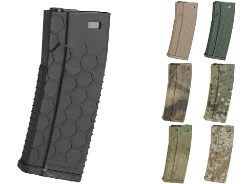 EMG Helios Hexmag Airsoft 120rds Polymer Mid-Cap Magazine for M4 / M16 Series Airsoft AEG Rifles (Color: Black / Single)