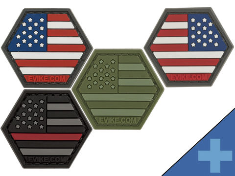 Operator Profile PVC Hex Patch American Flag Series (Color: Full Color)