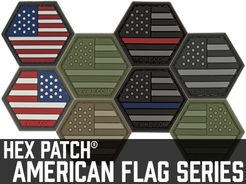 Operator Profile PVC Hex Patch American Flag Series
