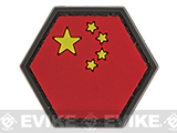 Operator Profile PVC Hex Patch Flag Series (Country: China)