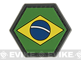 Operator Profile PVC Hex Patch Flag Series (Country: Brazil)