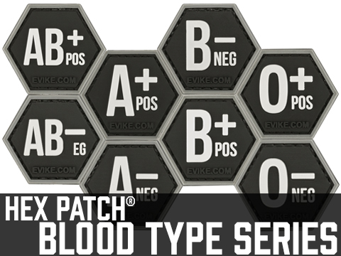 Operator Profile PVC Hex Patch  Blood Type Series (Type: A Positive)