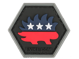 Operator Profile PVC Hex Patch  Political Party Series (Party: Libertarian)