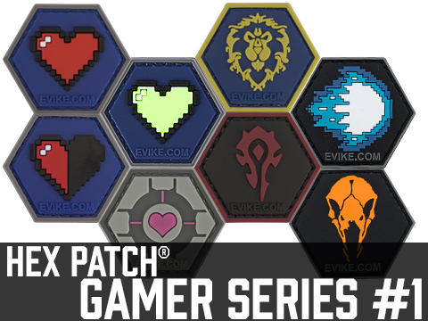 Operator Profile PVC Hex Patch Gamer Series 1 (Style: 8-bit Heart)