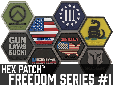 Operator Profile PVC Hex Patch Freedom! Series 1 (Style: Gadsden)
