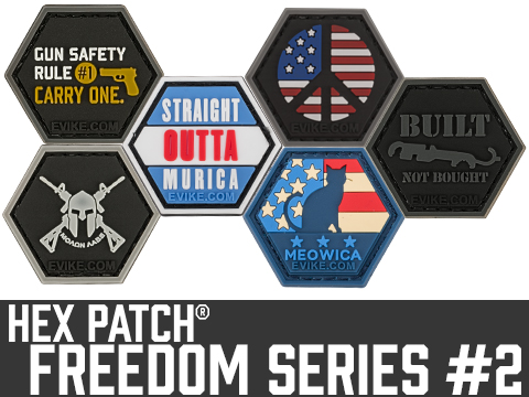 Operator Profile PVC Hex Patch Freedom! Series 2 (Style: Gun Safety)