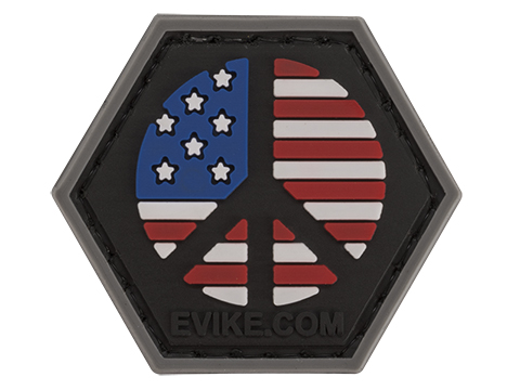 Operator Profile PVC Hex Patch Freedom! Series (Style: US Peace Sign)