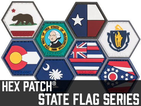 Operator Profile PVC Hex Patch State Flag Series (State: California)
