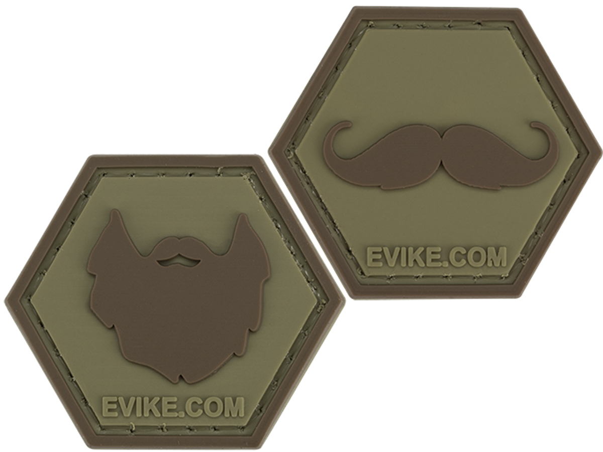 Operator Profile PVC Hex Patch  Facial Hair Series (Style: Beard)