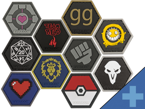 Operator Profile PVC Hex Patch Gamer Series (Style: 8-bit Heart)