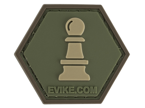 Operator Profile PVC Hex Patch  Chess Series (Piece: Pawn / OD Green)