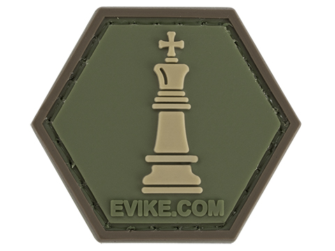 Operator Profile PVC Hex Patch  Chess Series (Piece: King / OD Green)