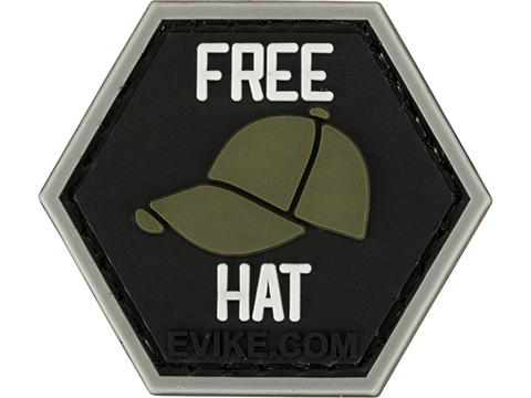 Operator Profile PVC Hex Patch - Free Hat