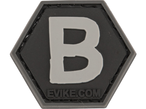 Operator Profile PVC Hex Patch - Alphabet Series (Letter: B)
