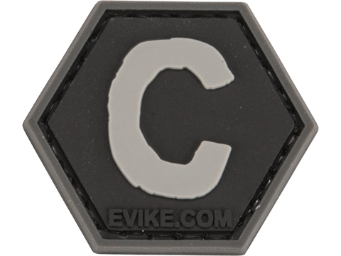 Operator Profile PVC Hex Patch - Alphabet Series (Letter: C)
