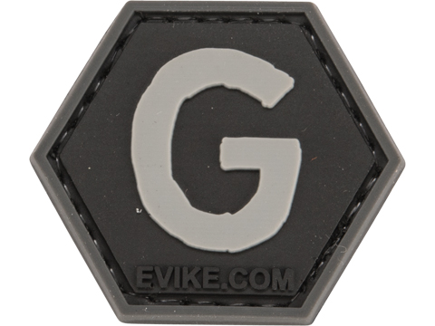 Operator Profile PVC Hex Patch - Alphabet Series (Letter: G)