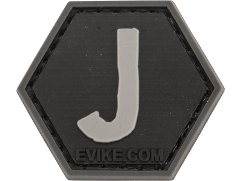 Operator Profile PVC Hex Patch - Alphabet Series (Letter: J)
