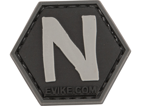 Operator Profile PVC Hex Patch - Alphabet Series (Letter: N)