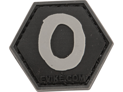 Operator Profile PVC Hex Patch - Alphabet Series (Letter: O)