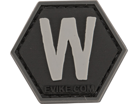 Operator Profile PVC Hex Patch - Alphabet Series (Letter: W)