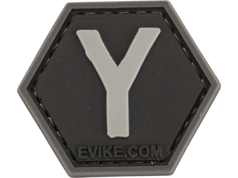 Operator Profile PVC Hex Patch - Alphabet Series (Letter: Y)