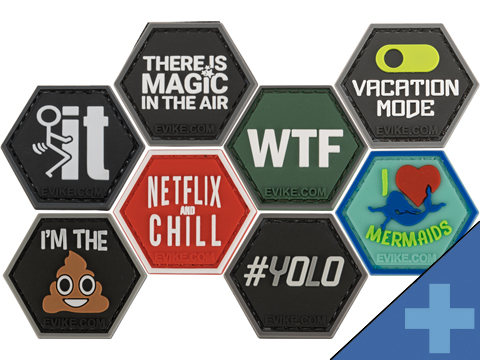 Operator Profile PVC Hex Patch Catchphrase Series (Style: Pain is Weakness Leaving)