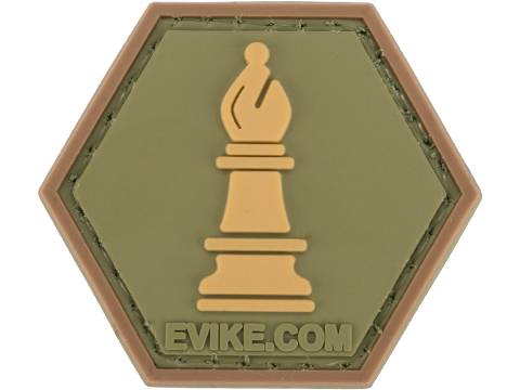 Operator Profile PVC Hex Patch Chess Series (Piece: Bishop / OD Green)