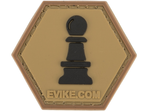 Operator Profile PVC Hex Patch Chess Series (Piece: Pawn / Tan)