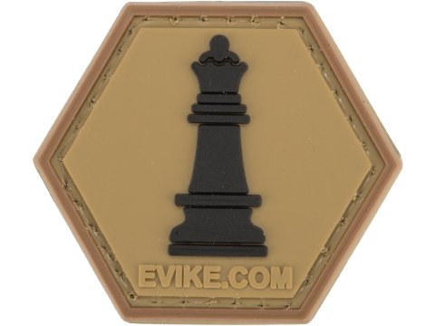 Operator Profile PVC Hex Patch Chess Series (Piece: Queen / Tan)