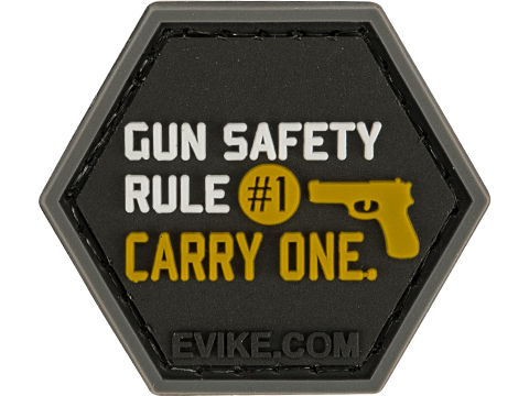 Operator Profile PVC Hex Patch Freedom! Series (Style: Gun Safety)