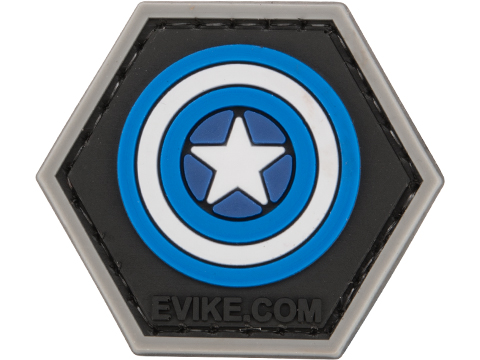Operator Profile PVC Hex Patch Comic Series (Style: Captain - Blue)