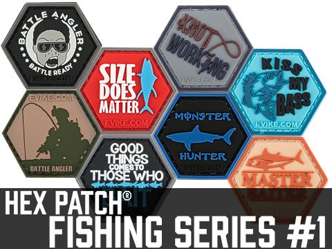 Operator Profile PVC Hex Patch Fishing Series 1 (Style: Size Does Matter)