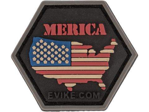 Operator Profile PVC Hex Patch Freedom! Series (Style: 'Merica Flag)