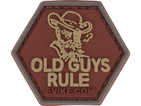 Operator Profile PVC Hex Patch Catchphrase Series (Style: Old Guys Rule)