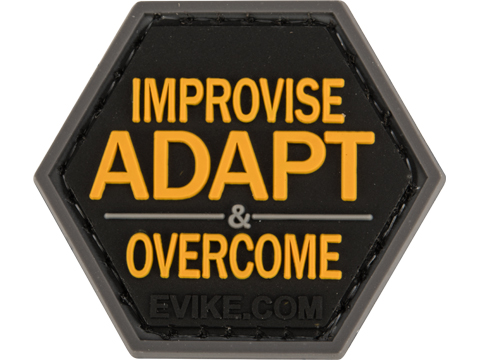 Operator Profile PVC Hex Patch Catchphrase Series (Style: Improvise Adapt Overcome)