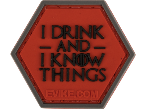 Operator Profile PVC Hex Patch Geek Series (Style: I Drink and I Know Things)