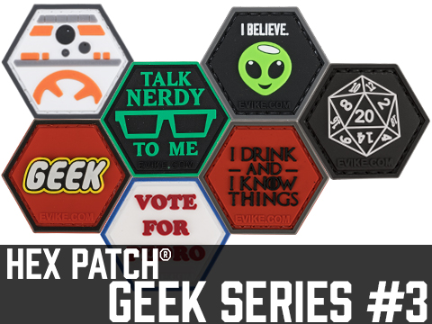 Operator Profile PVC Hex Patch Geek Series 3 (Style: 20 Sided Die)