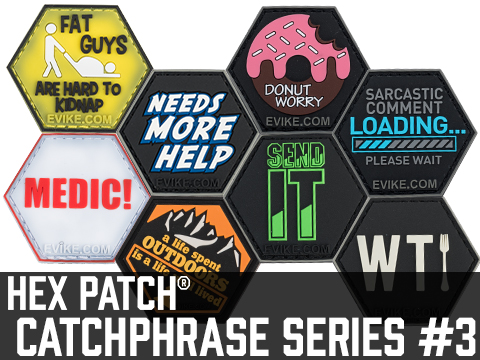 Operator Profile PVC Hex Patch Catchphrase Series 3 (Style: Love Women / Guns)