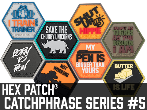 Operator Profile PVC Hex Patch Catchphrase Series 5 (Style: Chubby Unicorns)