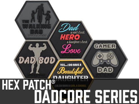 Operator Profile Metal Hex Patch DadCore Series (Style: Daddest Dad)