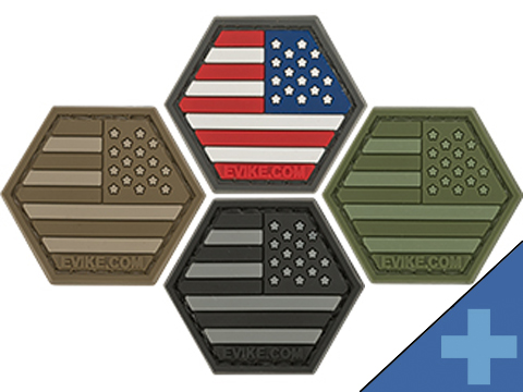 Operator Profile PVC Hex Patch Reversed Flag Series (Flag: USA Full Color)