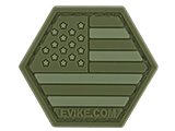 Operator Profile PVC Hex Patch American Flag Series (Color: OD Green)