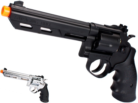 HFC 6 Bull Barrel Savage Bull Full Size Arisoft Gas Revolver (Color: Black)