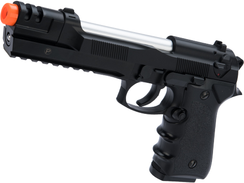 HFC M9 Tactical Master Elite Heavy Weight Airsoft Spring Hand Gun with Railed Frame (Color: Black)