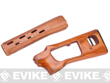 CYMA SVD Handguard & Stock Kit for SVD Series Airsoft AEG Sniper Rifles - Real Wood