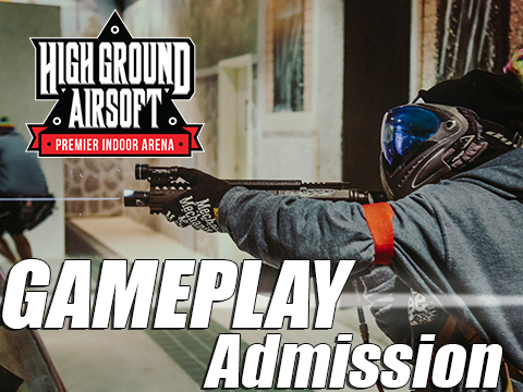 High Ground Airsoft Field Admission Pass (Ticket: Weekday Open Play Tuesday to Thursday)