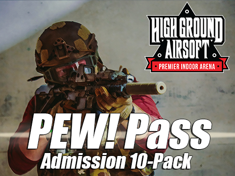 High Ground Airsoft PEW! Pass (Regular Admission 10-Pack)