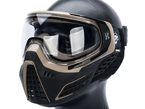 HK Army KLR Full Face Mask w/ Evike.com Headband (Color: Sandstorm / Clear Lens)