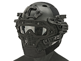 Matrix Legionnaire Full Head Coverage Helmet / Mask / Goggle Protective System (Color: Black)