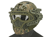 Matrix Legionnaire Full Head Coverage Helmet / Mask / Goggle Protective System (Color: Digital Woodland)
